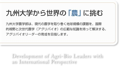 Kyushu University taking on